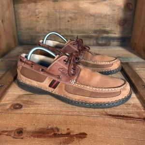 Clarks Leather Boat Shoe